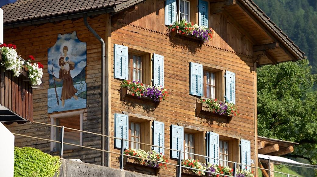 Triesenberg welches beinhaltet Blumen, Haus und Kunst