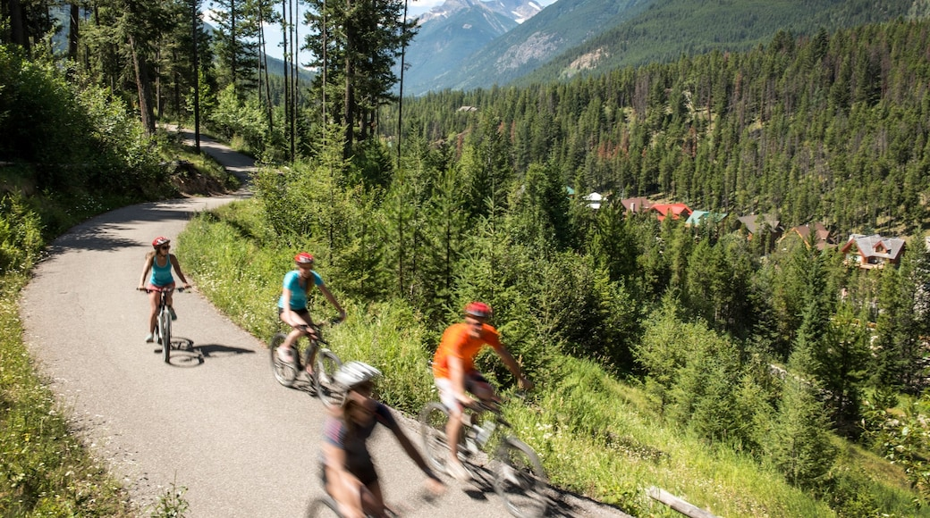 Panorama Mountain Ski Area which includes a small town or village, cycling and mountains