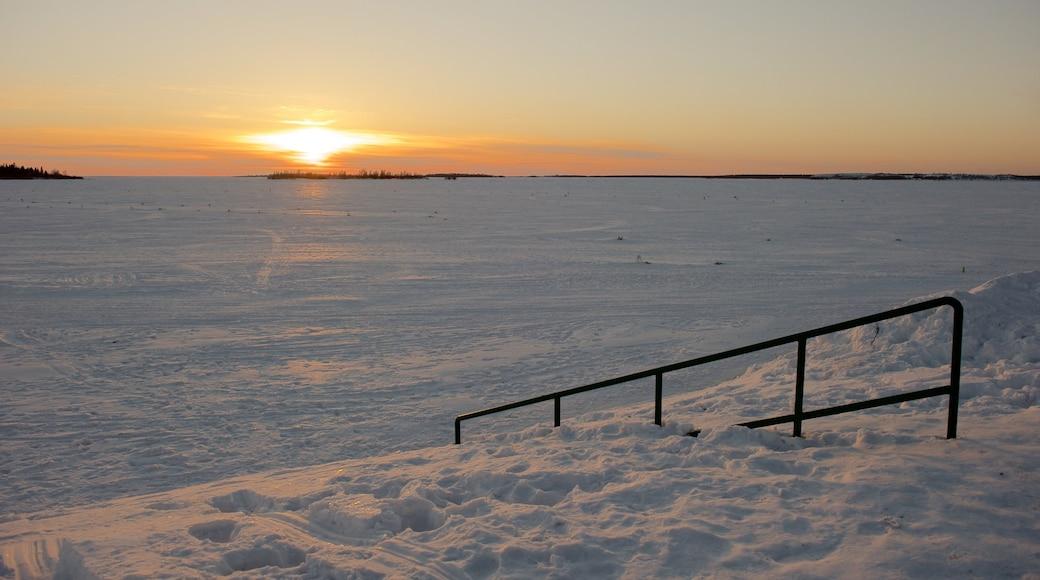 Kemi featuring lunta, auringonlasku ja maisemat
