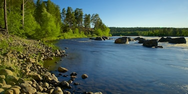 Inari which includes tranquil scenes and a lake or waterhole