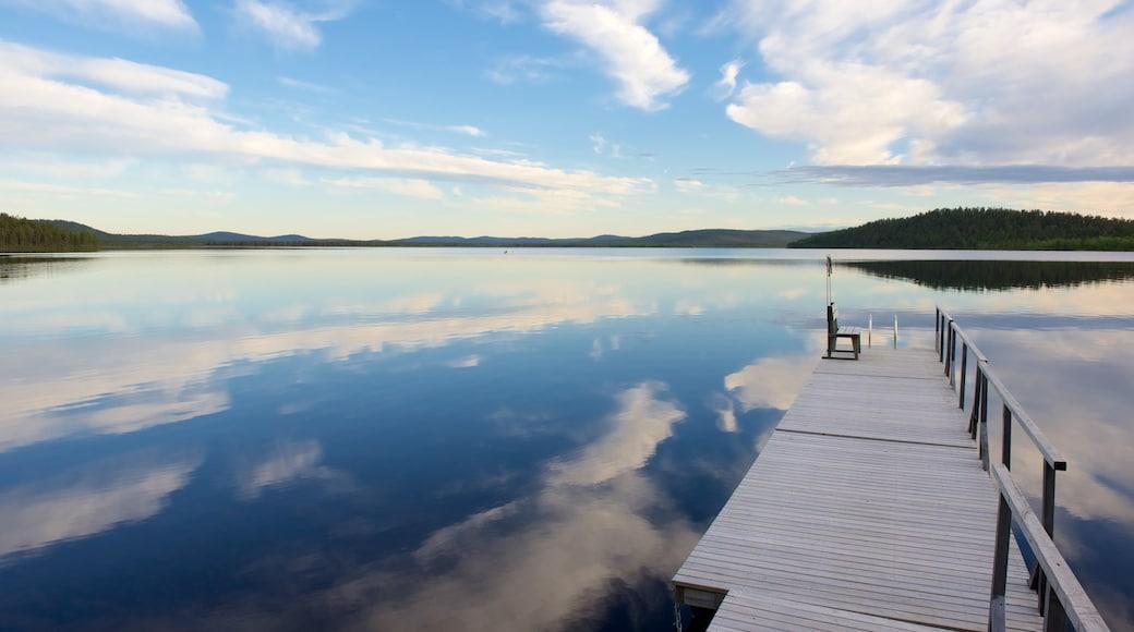 Inari das einen Ansichten, See oder Wasserstelle und Landschaften