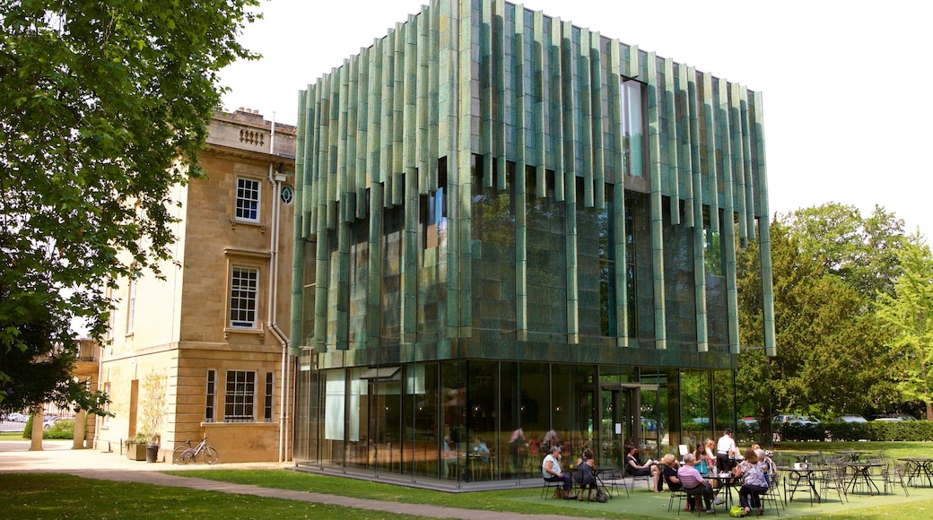 The Holburne Museum showing modern architecture and café scenes