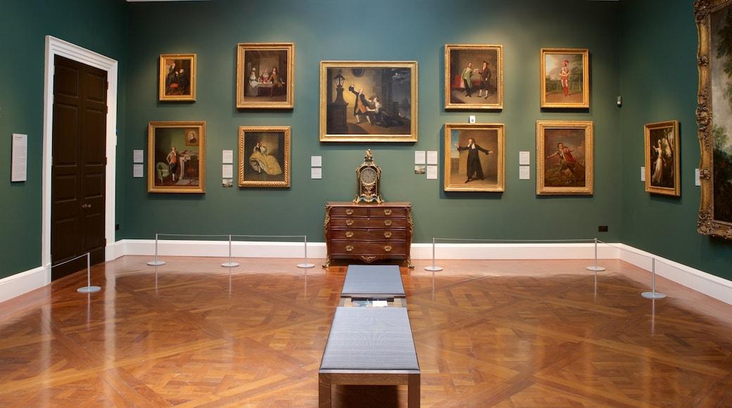 Bath featuring interior views and art