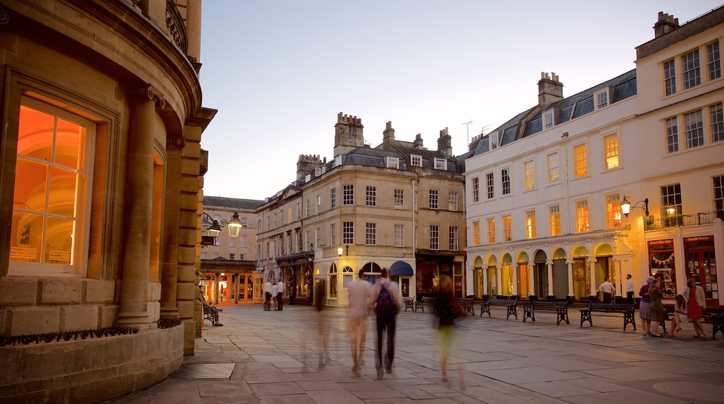 Bath featuring street scenes, a city and heritage architecture