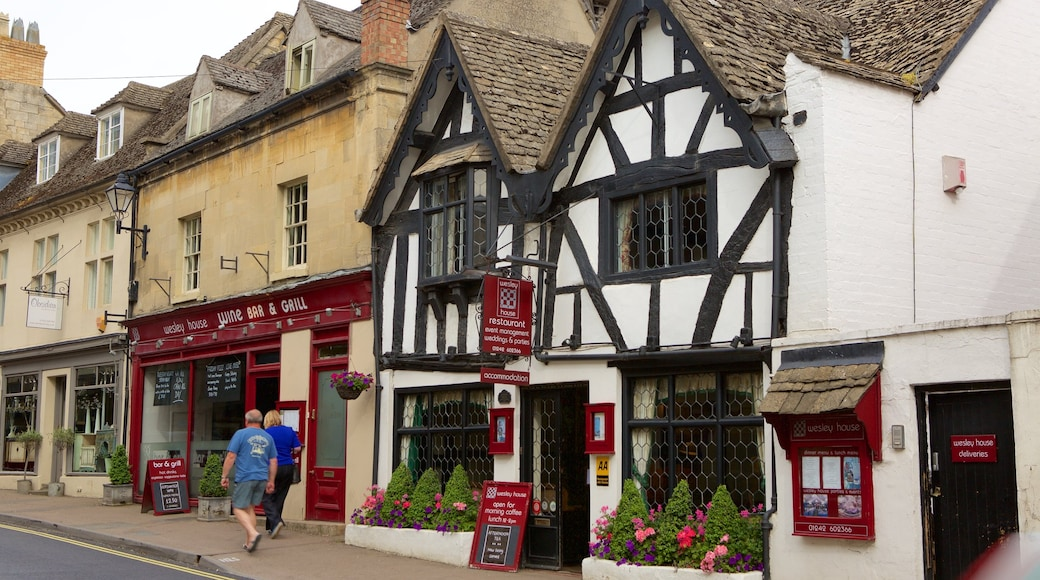 Winchcombe which includes heritage elements, street scenes and a bar