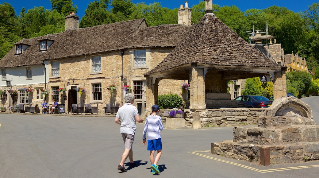 Castle Combe featuring a small town or village, heritage elements and a square or plaza