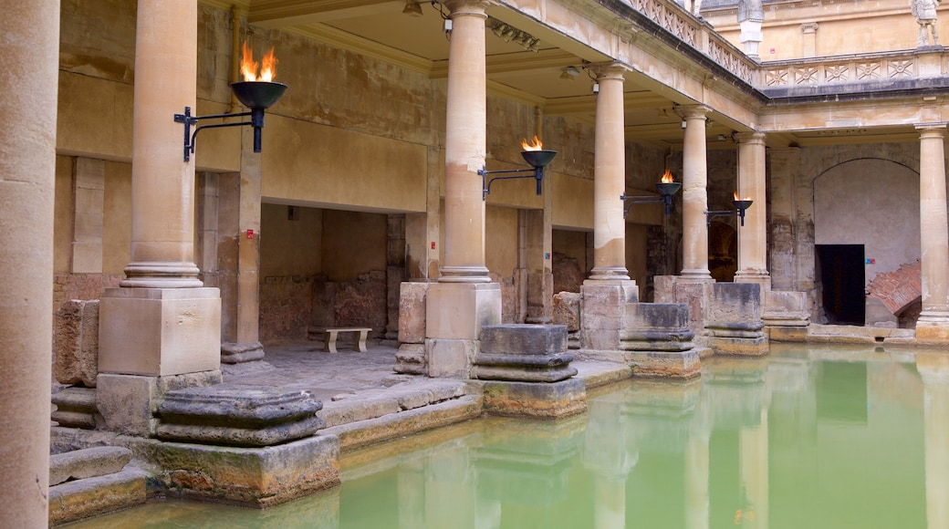 Roman Baths featuring heritage elements, heritage architecture and a pool