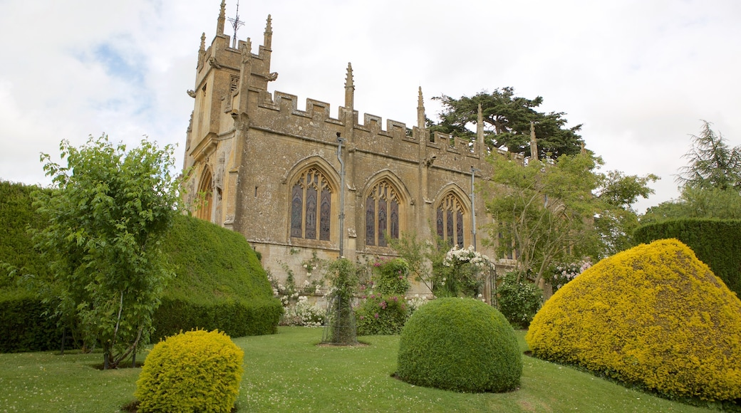 Sudeley Castle which includes a park, heritage architecture and a church or cathedral