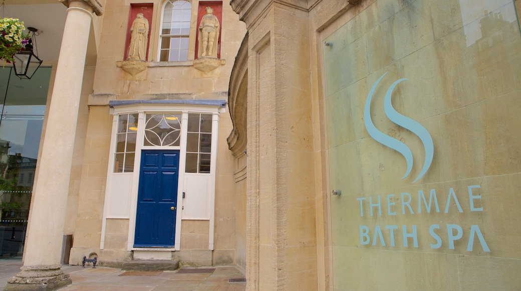 Thermae Bath Spa showing a day spa and signage