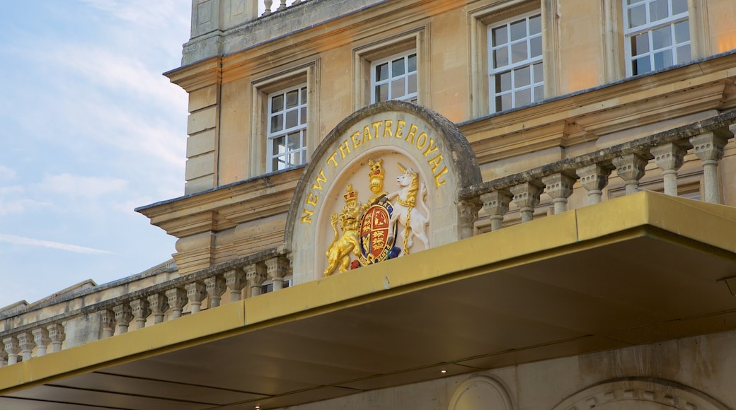 Bath Theatre Royal featuring theatre scenes and signage