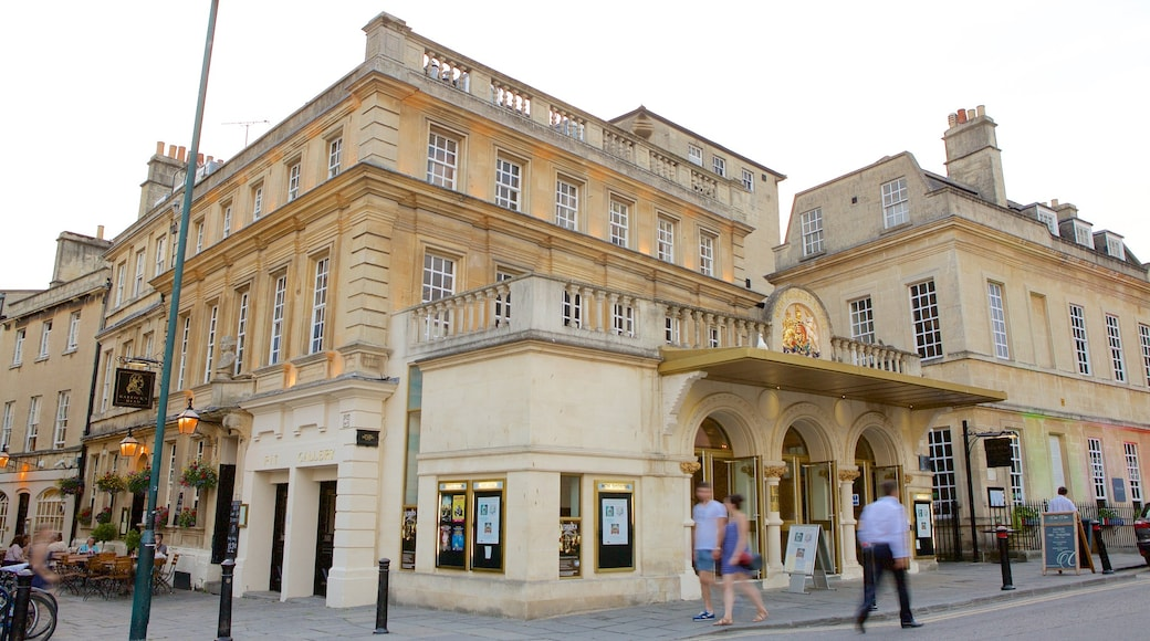 Bath Theatre Royal featuring heritage architecture, a city and theatre scenes