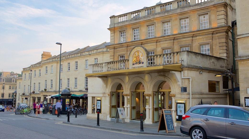 Bath Theatre Royal featuring a city, theatre scenes and street scenes