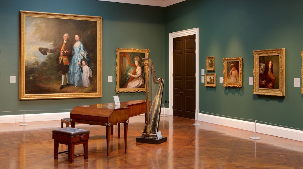 The Holburne Museum showing interior views, art and music