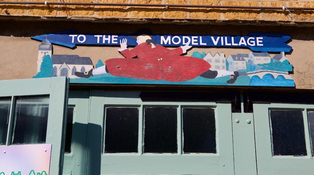 The Model Village showing signage