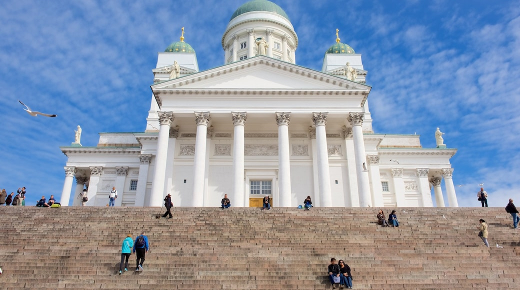 Helsinki Cathedral showing a church or cathedral and heritage architecture