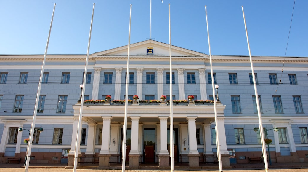 Helsinki City Hall featuring heritage architecture and an administrative buidling
