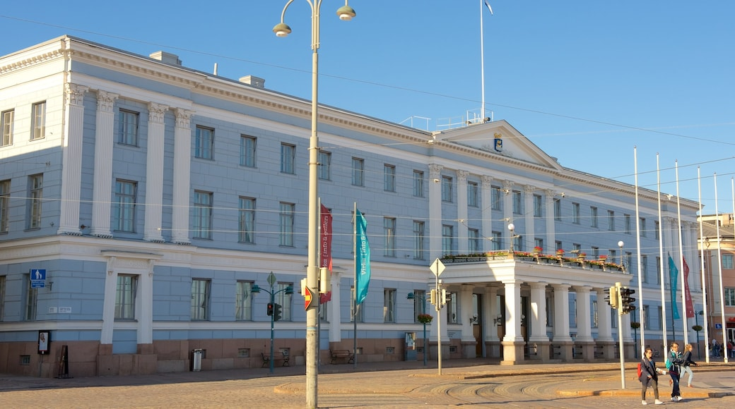 Helsinki City Hall which includes an administrative buidling and heritage architecture