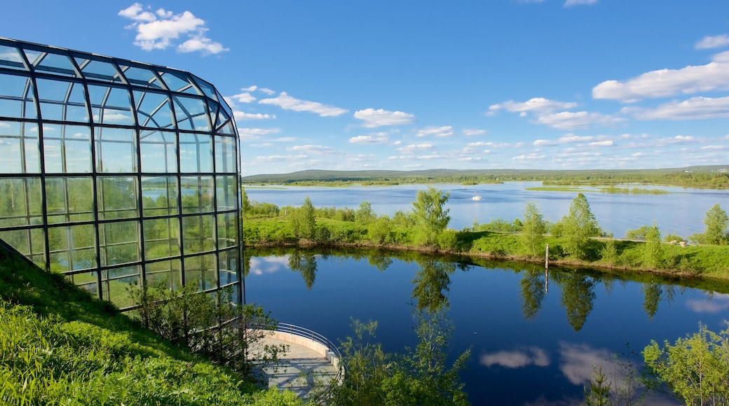 Arktikum joka esittää maisemat, rauhalliset maisemat ja joki tai puro