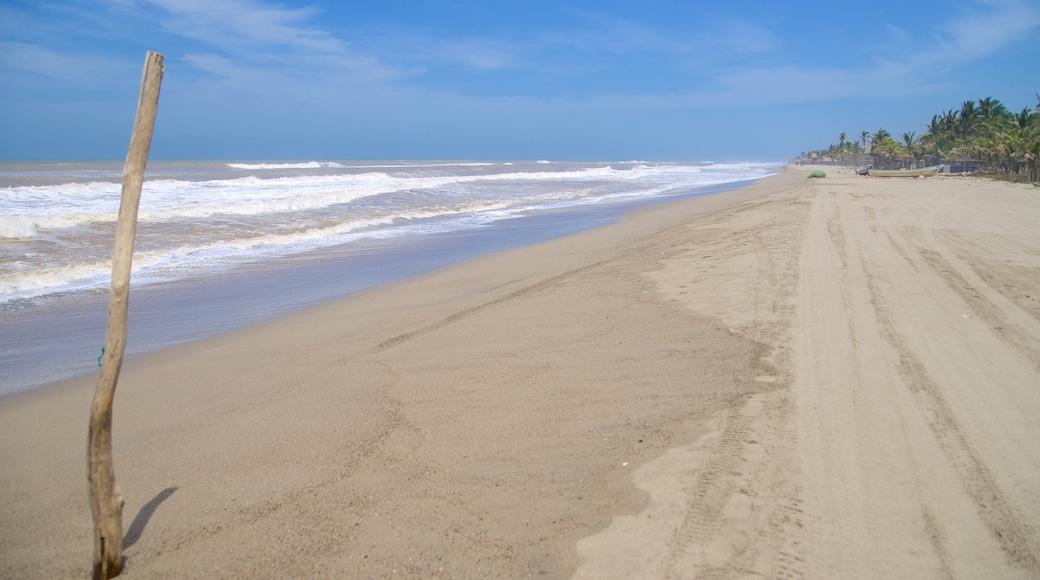 Playa de Barra Vieja que incluye una playa de arena y vistas de paisajes