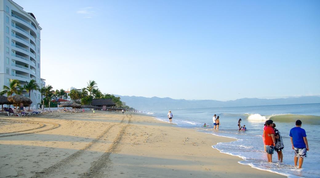 Nuevo Vallarta Beach which includes a luxury hotel or resort, a sandy beach and swimming