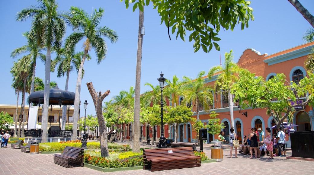 Plaza Machado showing a square or plaza