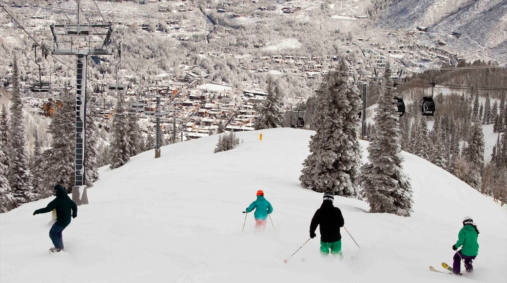 Aspen Mountain featuring snow boarding, snow and snow skiing