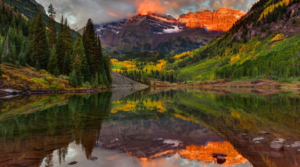 Aspen Highlands featuring a lake or waterhole, landscape views and tranquil scenes