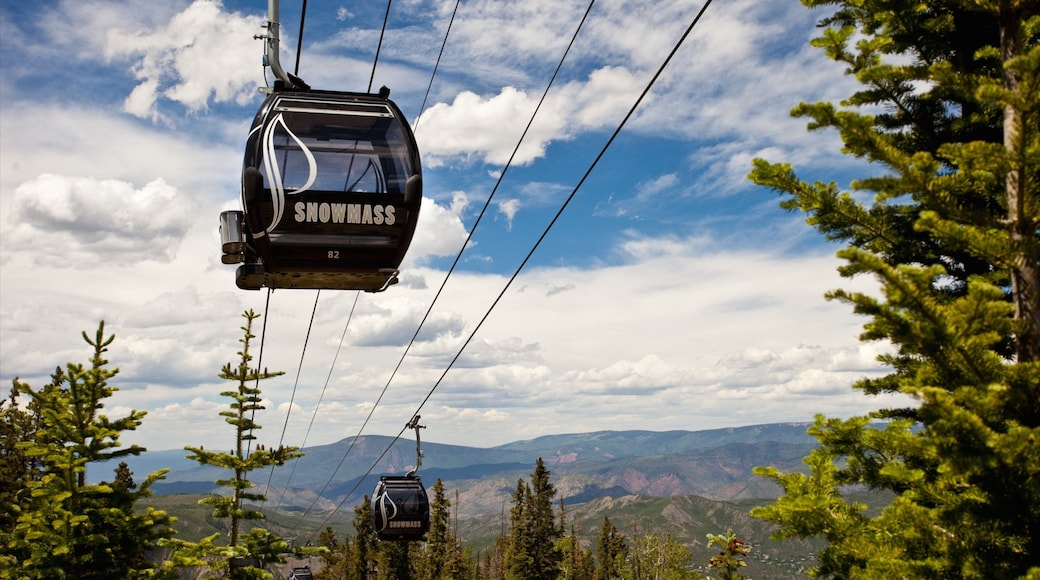 Snowmass which includes tranquil scenes and a gondola