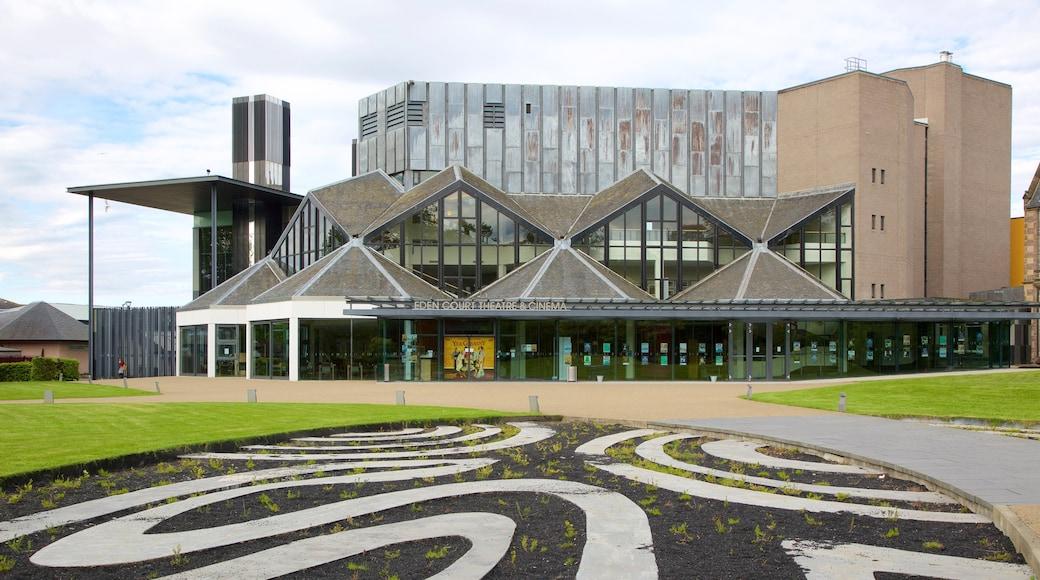 Eden Court Theatre featuring modern architecture