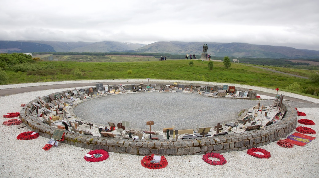 Commando Memorial which includes a cemetery and a monument