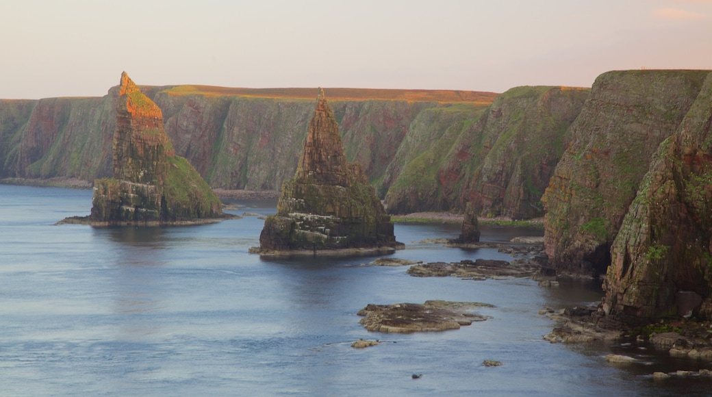 Duncansby Head showing rugged coastline
