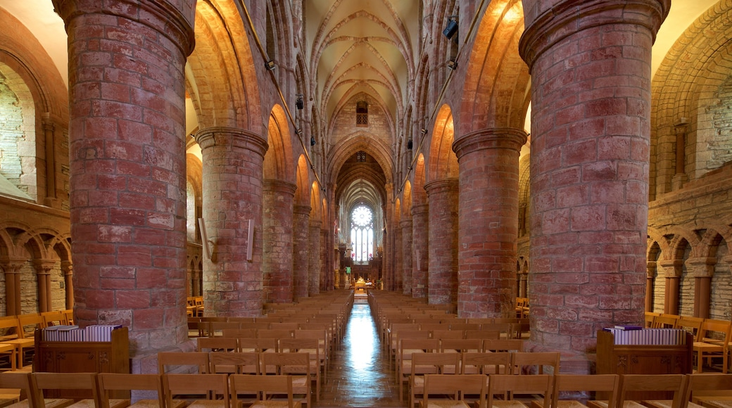 St. Magnus Cathedral which includes heritage architecture, heritage elements and interior views