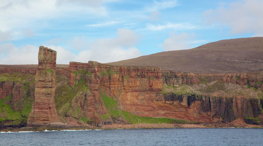 Old Man of Hoy showing rugged coastline