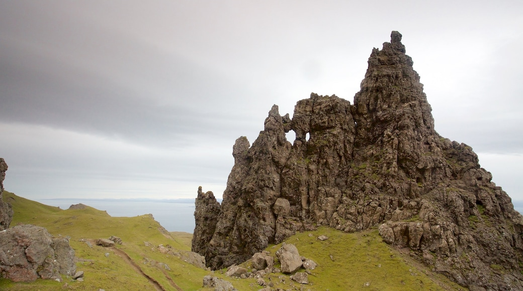 Old Man of Storr featuring tranquil scenes and general coastal views