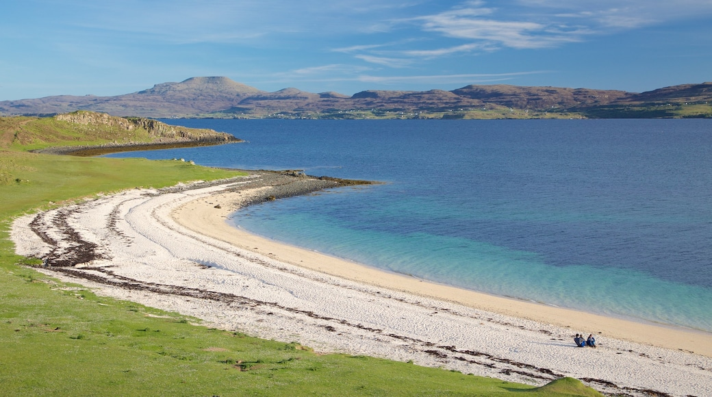 Isle of Skye showing a bay or harbour, a beach and a pebble beach