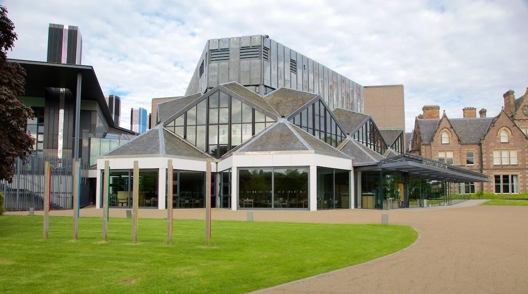 Eden Court Theatre showing theatre scenes and modern architecture