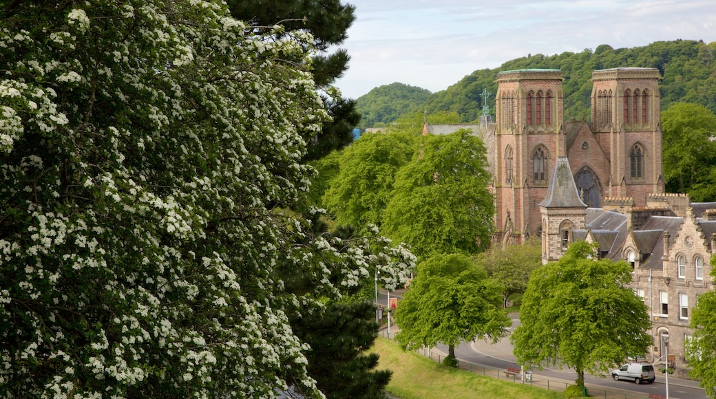 Inverness Cathedral showing a church or cathedral, heritage architecture and heritage elements