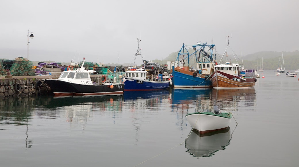 Isle of Mull which includes a marina, boating and a bay or harbour