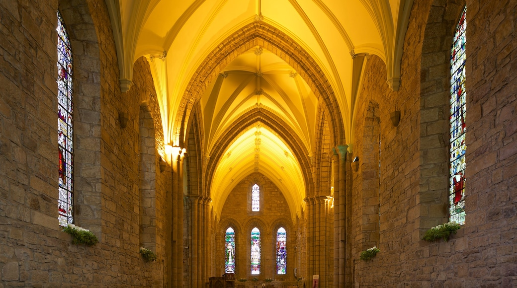Dornoch Cathedral featuring heritage elements, interior views and a church or cathedral