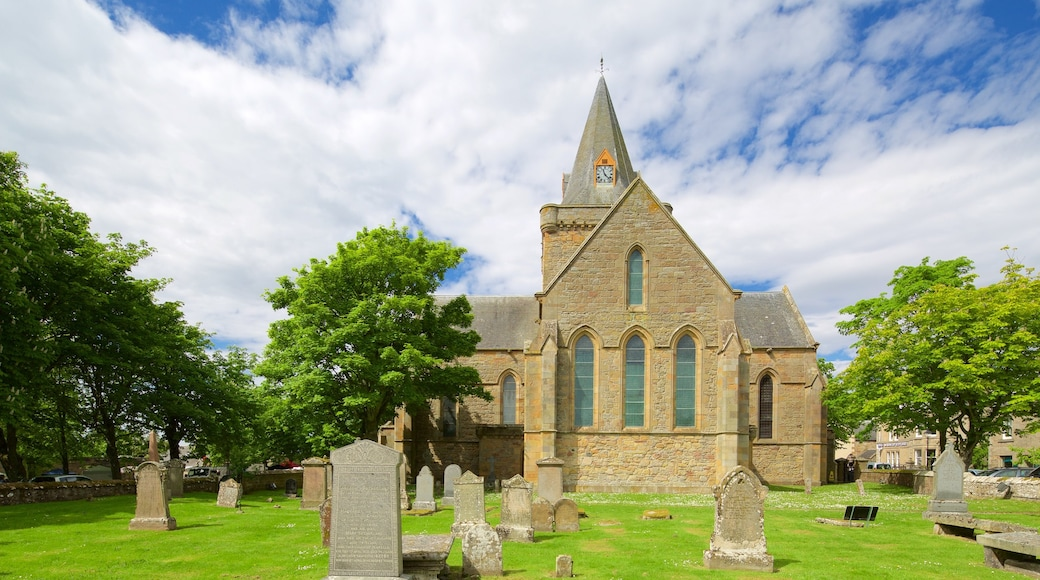 Dornoch Cathedral featuring a church or cathedral, heritage elements and heritage architecture