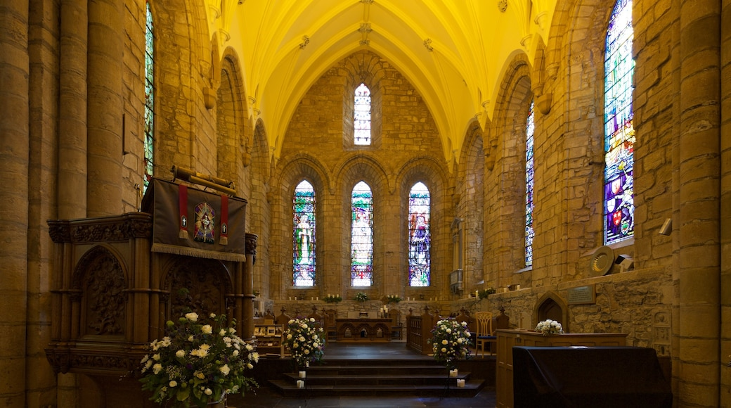 Dornoch Cathedral which includes a church or cathedral, heritage elements and interior views
