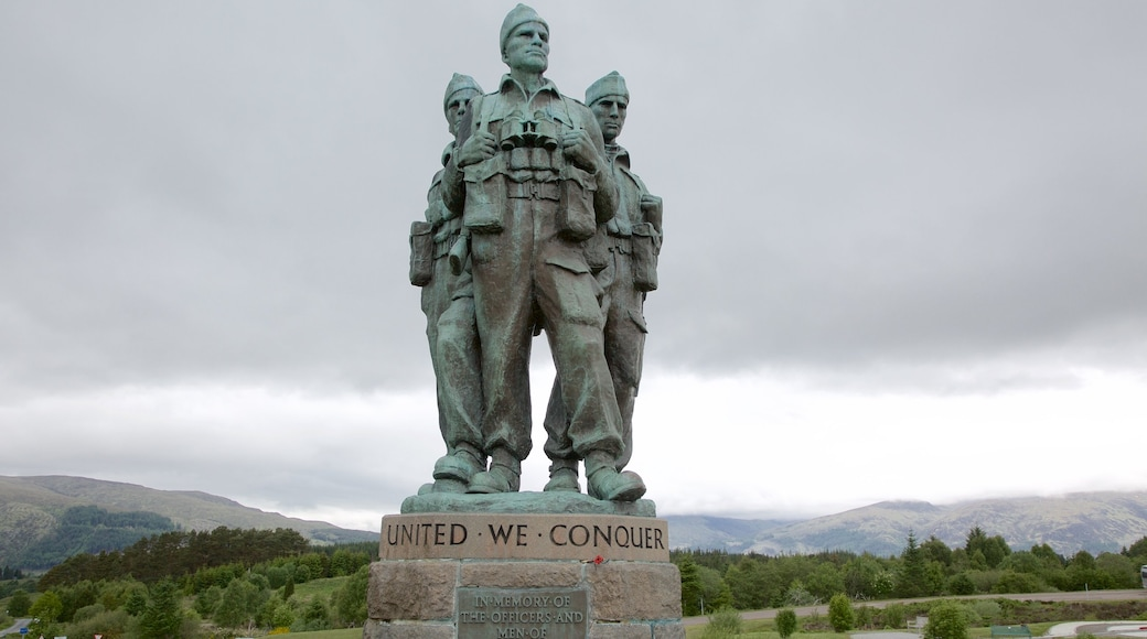 Commando Memorial which includes heritage elements, a statue or sculpture and a monument