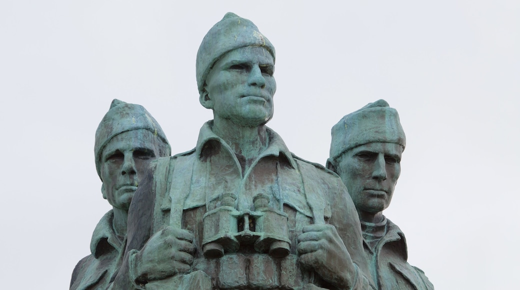 Commando Memorial which includes a monument, heritage elements and a statue or sculpture