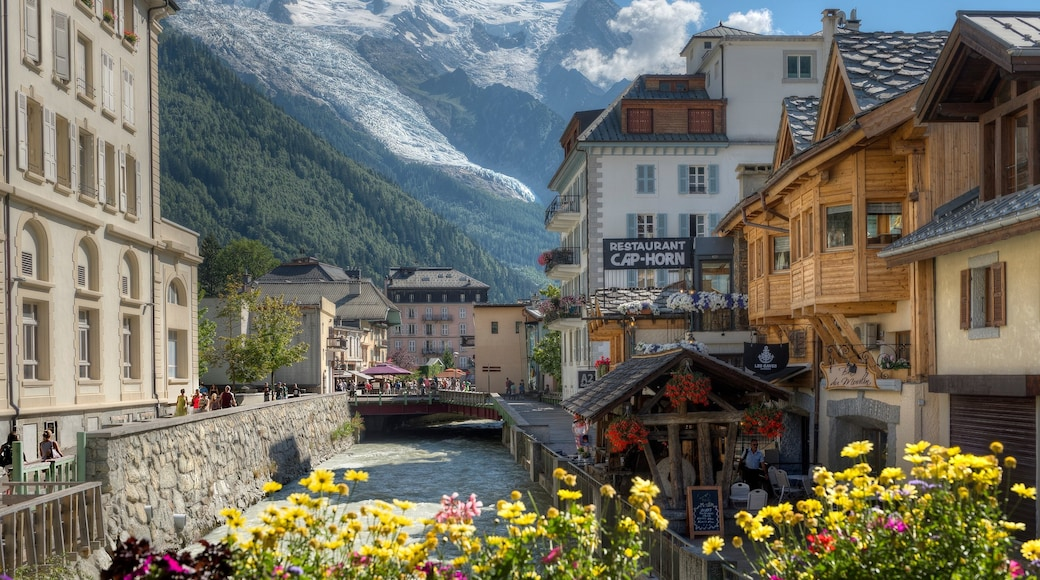 Chamonix-Mont-Blanc joka esittää joki tai puro