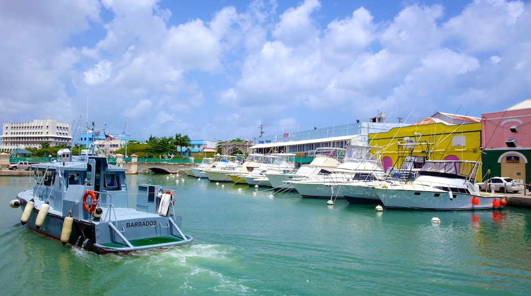 Bridgetown featuring a bay or harbour, boating and a marina