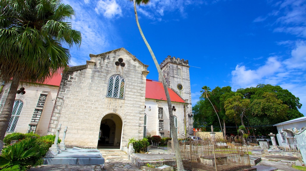 Bridgetown featuring religious aspects, a cemetery and heritage elements