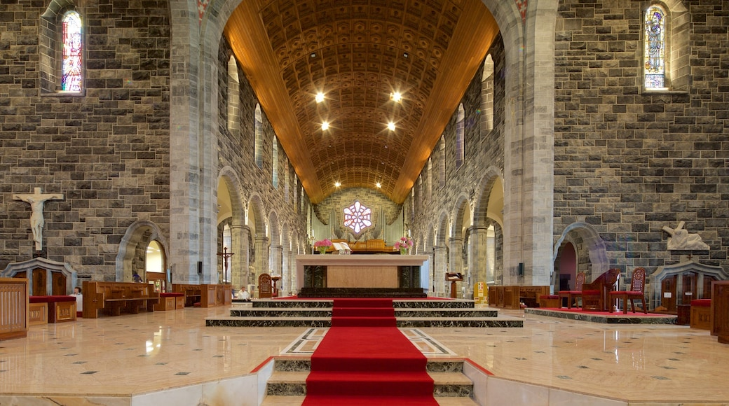 Galway Cathedral featuring heritage architecture, heritage elements and interior views