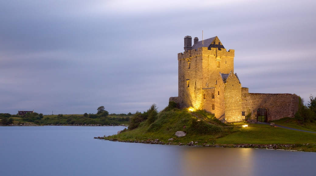 Dunguaire Castle featuring heritage architecture, a river or creek and heritage elements