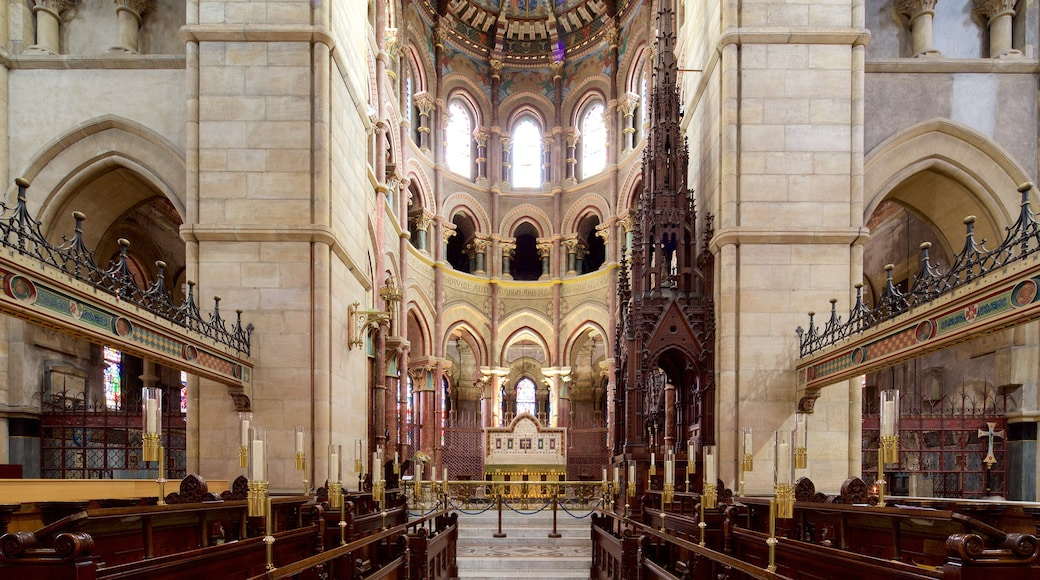 St. Finbarr\'s Cathedral featuring heritage elements, a castle and interior views