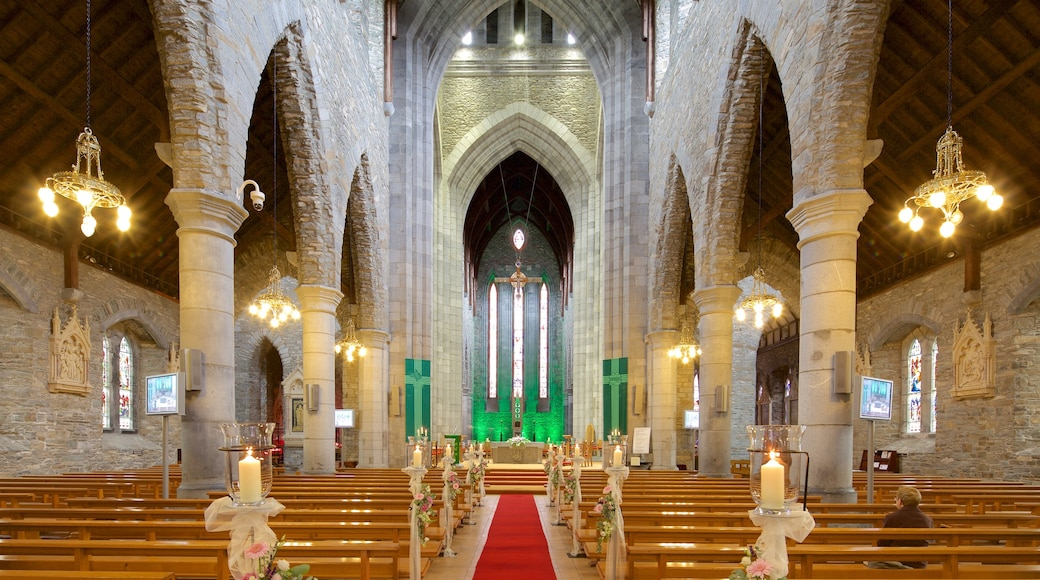 Killarney Cathedral which includes religious aspects, heritage architecture and a church or cathedral